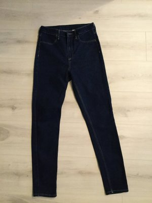 HM Hoge taille jeans donkerblauw