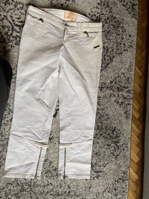 Galliano Jeans vita bassa bianco
