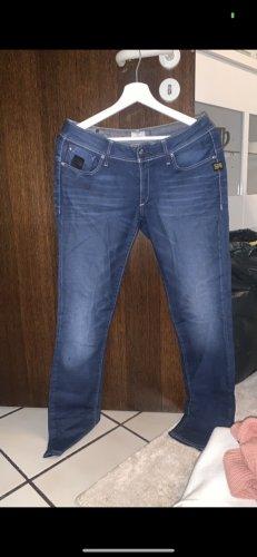 G-Star Spodnie ze stretchu niebieski