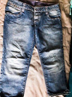 Jeans a 7/8 blu fiordaliso