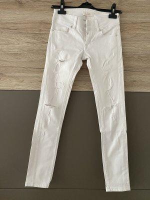 c.o.j Skinny jeans wit