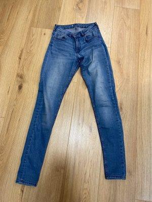Wortel jeans korenblauw
