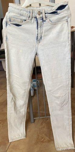 Clockhouse Jeansy z prostymi nogawkami biały-jasnoniebieski