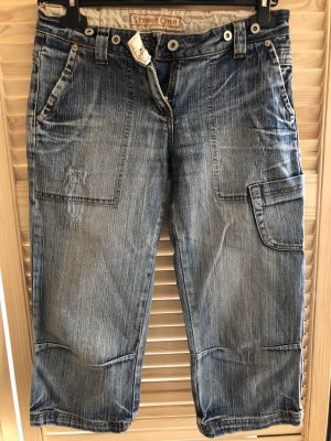 Street One Jeans a 3/4 azzurro-blu scuro