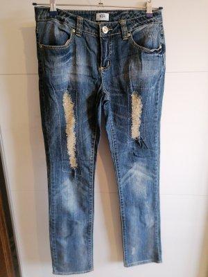 Bon Prix Skinny jeans grijs-bruin-blauw