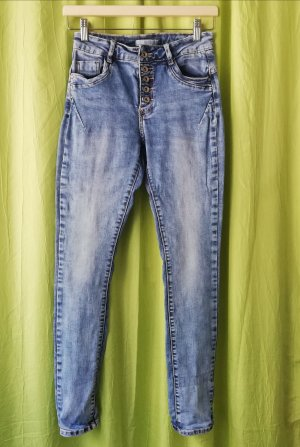Blind Date Stretch jeans staalblauw