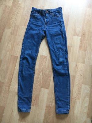 Bershka Hoge taille jeans staalblauw
