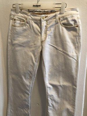Dragon Jeans vita bassa bianco
