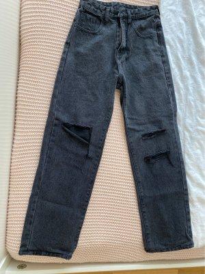 SheIn High Waist Jeans anthracite