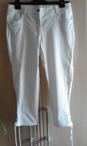 Madeleine Jeans a 3/4 bianco sporco Cotone