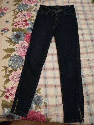 Jeans a 7/8 blu scuro