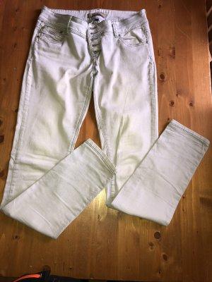 Blind Date Tube jeans wit-lichtgrijs