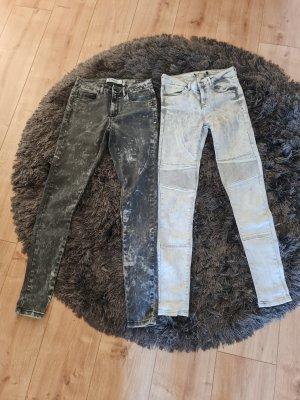 B/W Zara Collection Jeansy o obcisłym kroju Wielokolorowy