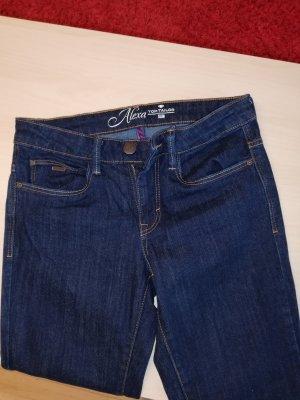 Tom Tailor Jeansy z prostymi nogawkami złotopomarańczowy-ciemnoniebieski