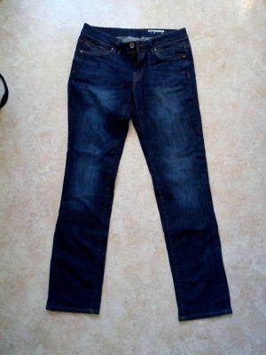 edc Jeansy z prostymi nogawkami niebieski-ciemnoniebieski