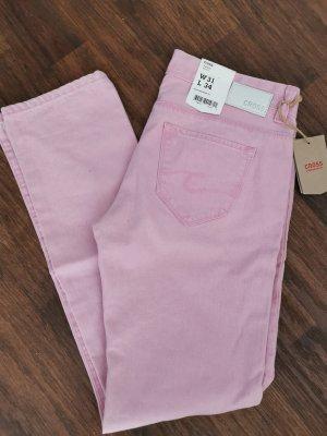 Cross Low Rise Jeans light pink