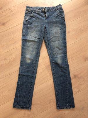 AJC Jeansy z prostymi nogawkami niebieski