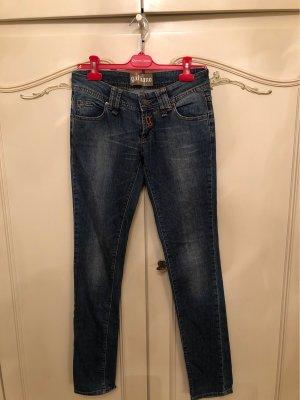 Galliano Pantalone a vita bassa blu