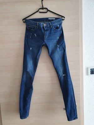 edc by Esprit pantalón de cintura baja azul oscuro