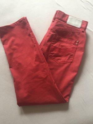 Gardeur Jeans carotte rouge clair coton
