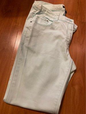 H&M Jeansy o obcisłym kroju miętowy