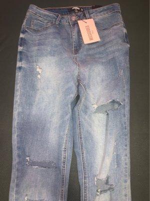Missguided Jeans a vita alta blu