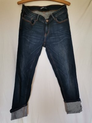 Zara Basic 3/4 Length Jeans dark blue