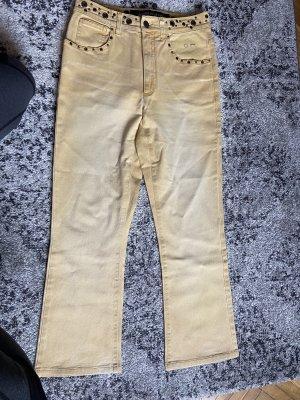 Angelo Marani Low Rise jeans lichtgeel