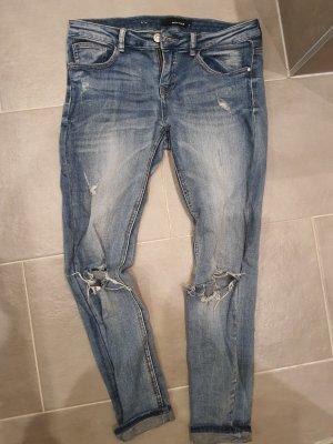 Tally Weijl Jeansy z prostymi nogawkami stalowy niebieski