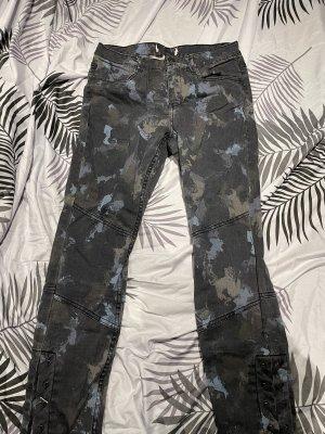 0039 Italy Jeans de moto noir-bleu foncé