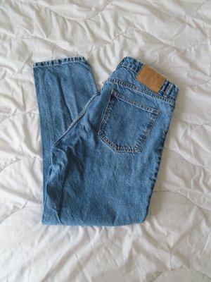 Zara Jeans boyfriend azzurro Cotone