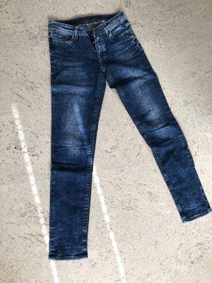 Blue Fire Jeansy z prostymi nogawkami ciemnoniebieski