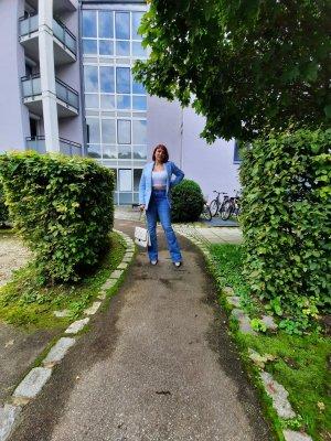 Zara Jeans bootcut bleu fluo