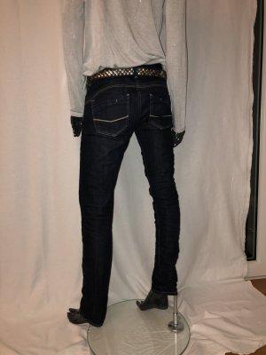 Cross Tube Jeans dark blue