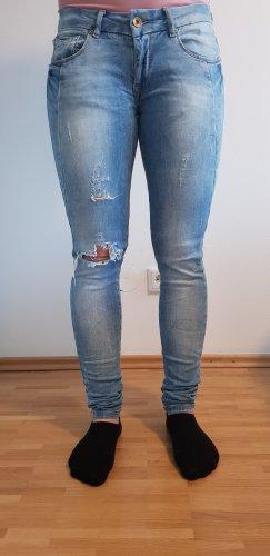 Tally Weijl Jeans a sigaretta azzurro-bianco