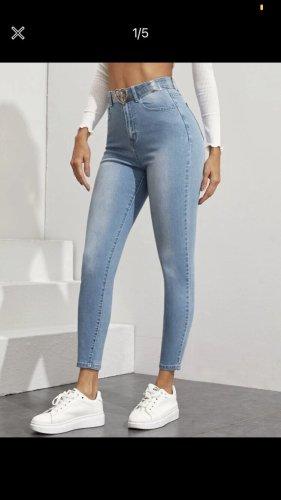 Sheinside Stretch Trousers azure