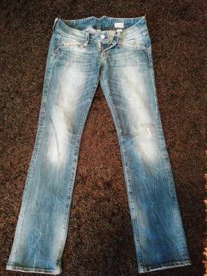 Blaustoff Herrlicher Straight Leg Jeans blue