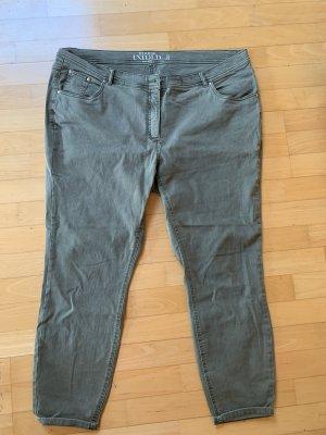 Studio Untold Dopasowane jeansy zielono-szary