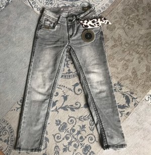 Blue Monkey Jeans 7/8 gris clair