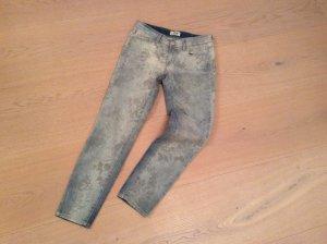 Jeans, 7/8, blau mit Print von Cimarron