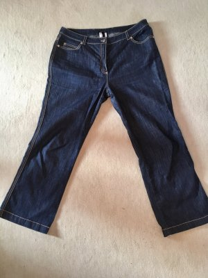 Escada 7/8 Length Jeans dark blue-orange cotton