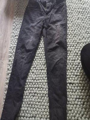 Jeans 7/8 Damen grau