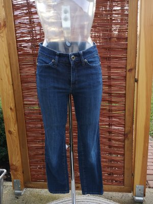 Cambio Jeans Jeansy 7/8 niebieski-ciemnoniebieski
