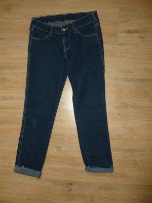 H&M Spodnie 7/8 ciemnoniebieski
