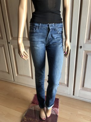 7 For All Mankind Vaquero de talle alto azul acero