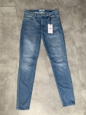 7 For All Mankind Tube jeans azuur-staalblauw