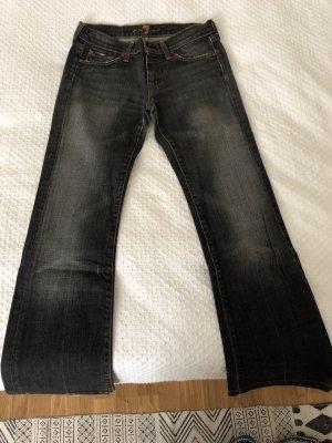 7 For All Mankind Jeansy z prostymi nogawkami szary