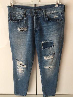 7 For All Mankind Jeansy z prostymi nogawkami szary niebieski