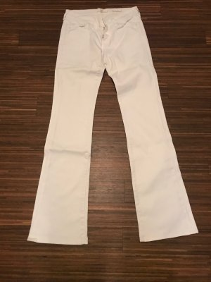 7 For All Mankind Boot Cut Jeans white
