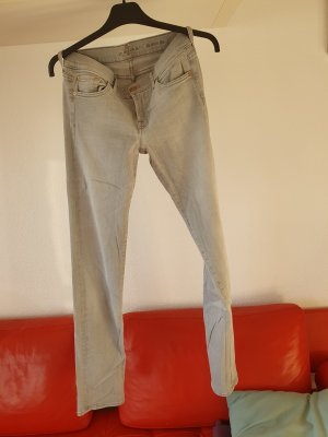 7 For All Mankind Jeansy z prostymi nogawkami jasnoszary